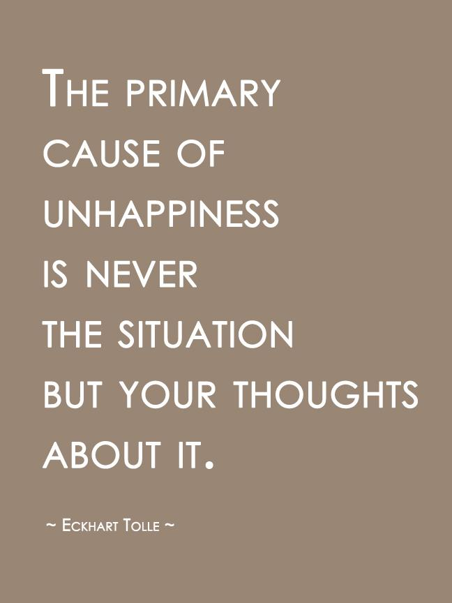 eckhart tolle unhappiness